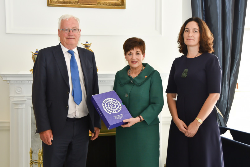 Hon Sir William Young, Dame Patsy and Jacqui Caine