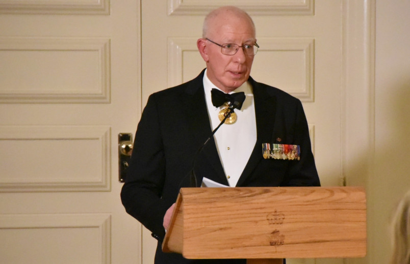 Image of the Governor-General of Australia speaking at the State Dinner
