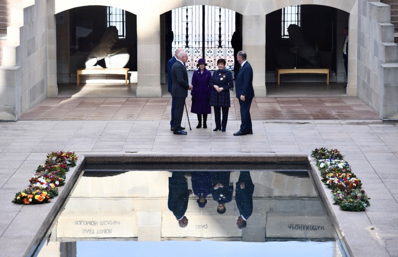 Image of Dame Patsy and Sir David with Governor-General and Mrs Hurley