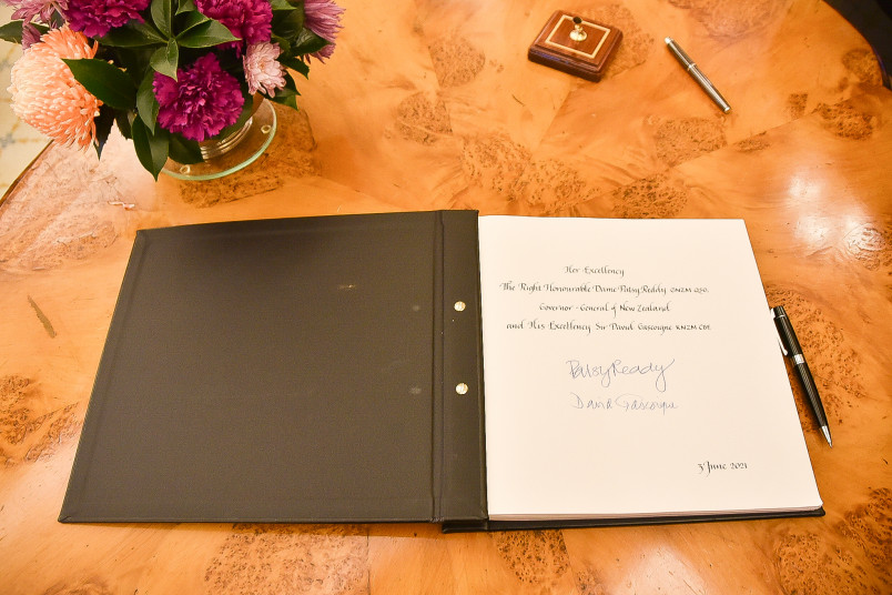 Image of the Visitor Book at Yarralumla