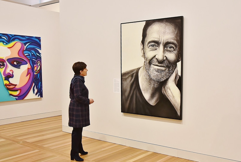 Image of Hugh Jackman at the National Portrait Gallery