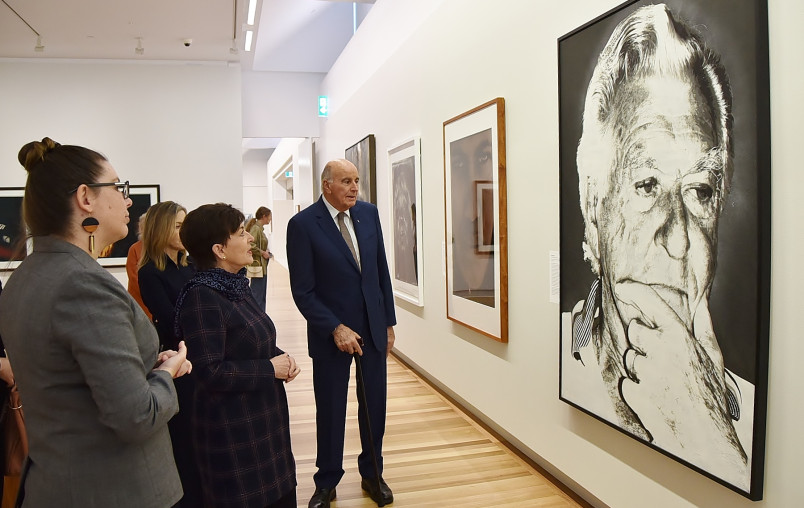 Image of a portrait of Bob Hawke at the Australian National Portrait gallery