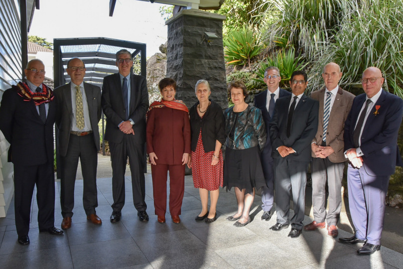 Dame Patsy Reddy with current Child Cancer Foundation Lifetime Member Award recipients