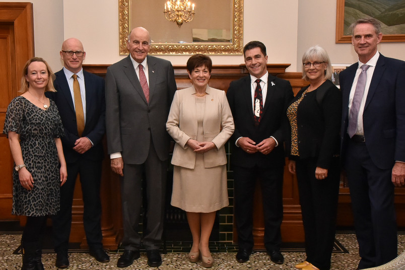 Dame Patsy, Sir David and the official party at the Wellington City Mission Reception