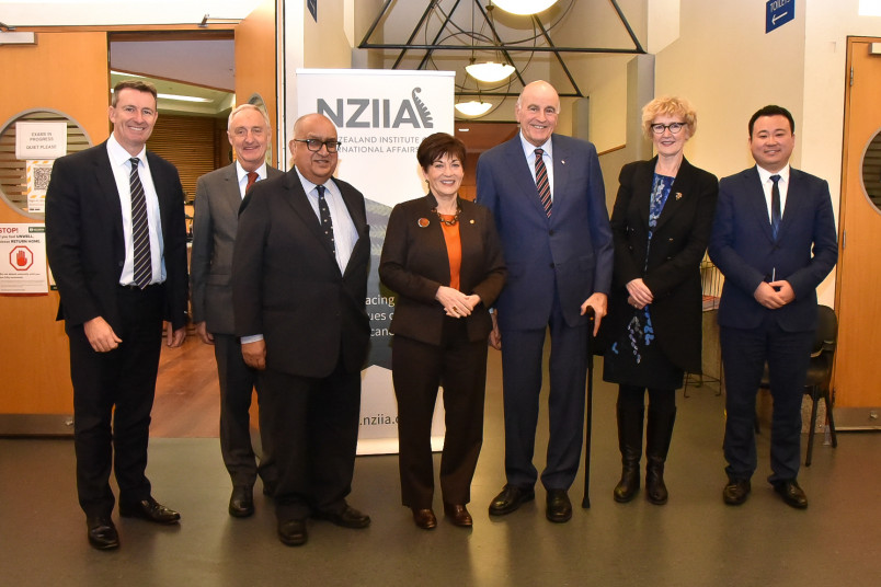 Dame Patsy and Sir David with the NZIIA official party