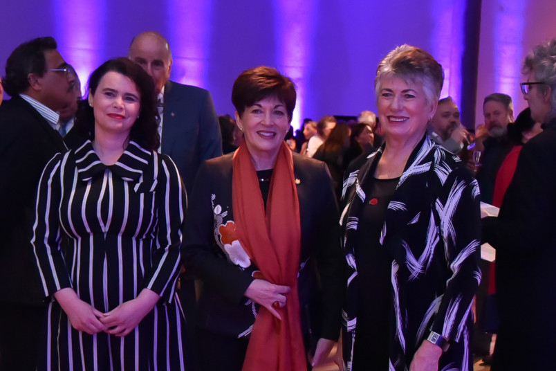 Dame Patsy with Ms. Sandra Tatsakis, Director, International Exhibitions, Museum Boijmans and Dame Fran Wilde