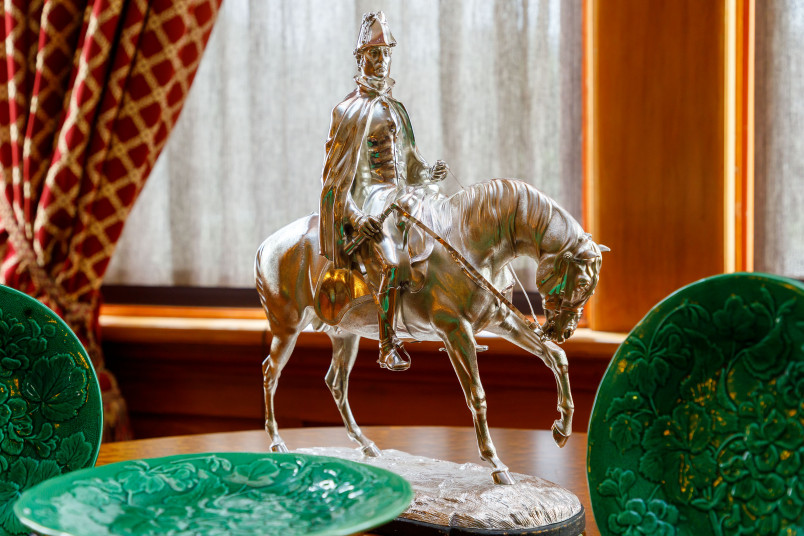 Image of the silver statuette of the Duke of Wellington