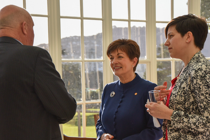 Dame Patsy Reddy with Aphra Green