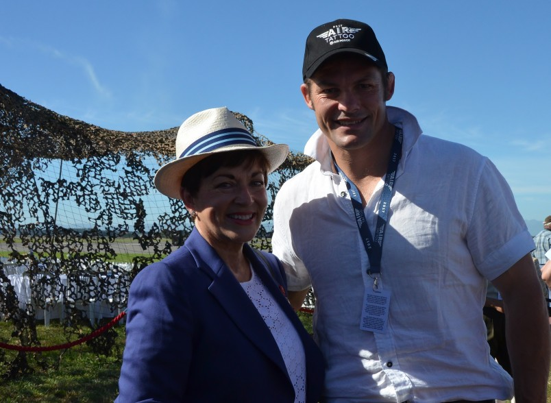 The Governor-General, The Rt Hon Dame Patsy Reddy and Richie McCaw.