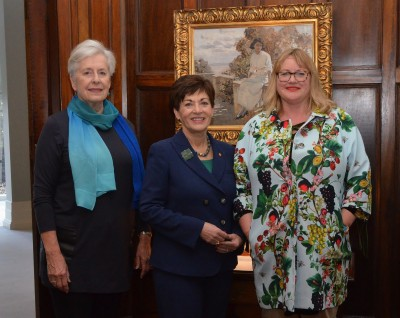 An image of Dame Silvia Cartwright, Dame Patsy Reddy and Theresa Gattung