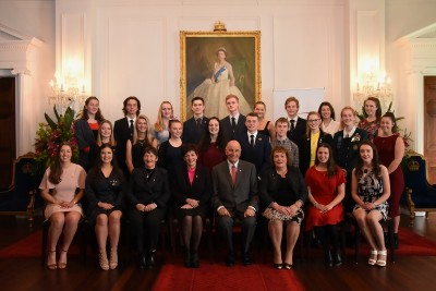 An image of Their Excellencies with Duke of Edinburgh Hillary Gold Awards