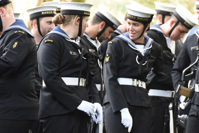 Image of members of the NZDF before the march-on