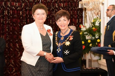 An image of Mrs Linda Webb, MZNM of Christchurch, for services to music education