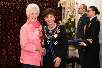 An image of Mrs Susanne (Sue) Edwards, ONZM of Picton, for services to synchronised swimming
