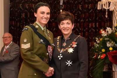 an image of Staff Sergeant Tina Grant, DSD for services to the New Zealand Defence Force