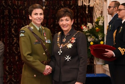 an image ofMajor Charmaine Tate, DSD for services to the New Zealand Defence Force