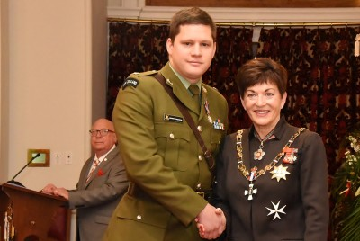 an image of Major Andrew Thornton, DSD for services to the New Zealand Defence Force