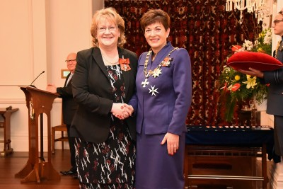 An image of Ms Sharyn Evans, MNZM of Wellington, for services to music.