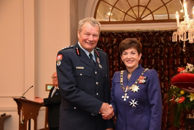 An image of Mr Brian Dobson, QSM of Matata, for services to the New Zealand Fire Service and rugby.