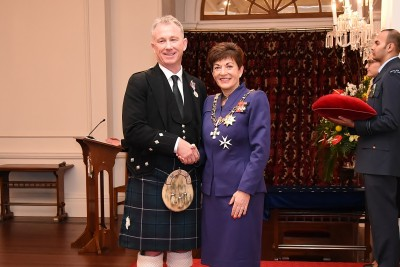 an image of Mr Timothy Sander, QSM of Wellington, for services to pipe bands and the community.