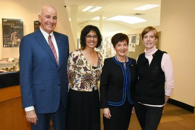 Image of Dame Patsy and Sir David with Frances Turner, Chief Executive of the RNZB and Patricia Barker, Artistic Director
