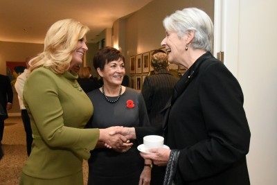 An image of HE Kolinda Grabar Kitarovic, Dame Patsy and Dame Silvia Cartwright