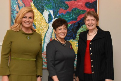 HE Kolinda Grabar Kitarovic, Dame Patsy and The Rt Hon Helen Clark