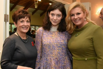An image of Dame Patsy, Ella Yelich-O'Connor, and HE Kolinda Grabar Kitarovic