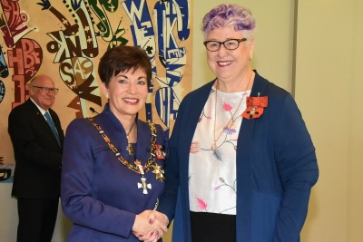 An image of Dame Patsy and Mrs Janis (Jan) Ballantyne, of Te Awamutu, MNZM for services to education and the community