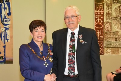 An image of Dame Patsy and Mr Mark Edmonds, of Rotorua, QSM for services to sport