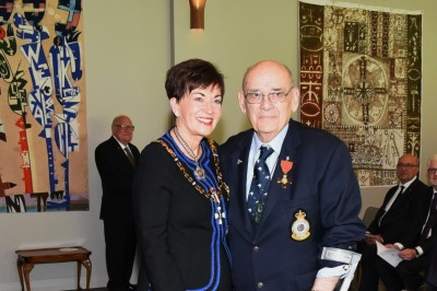An image of Dame Patsy and Mr Wahiao (Jim) Gray, of Rotorua, ONZM for services to Māori and governance