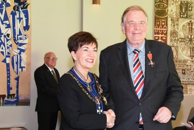 An image of Dame Patsy and Mr Timothy (Tim) Gresson, of Timaru, MNZM for services to the law and sport