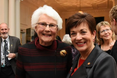 An image of Dame Patsy with Hon Margaret Austin