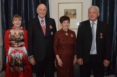 an image of Their Excellencies with Toro Waaka MNZM and Marion Waaka