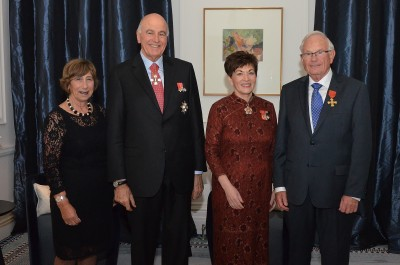 an image of Their Excellencies with Geoffrey Whitcher ONZM and Helen Whitcher