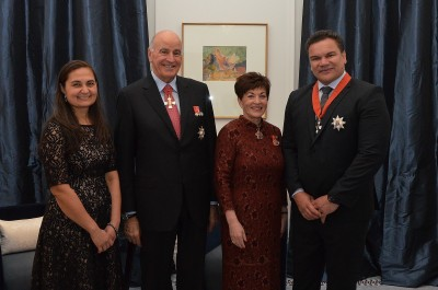 an image of Their Excellencies with Sir Michael Jones, KNZM and Lady Maliena Jones