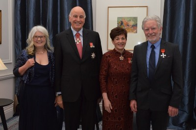 an image of Their Excellencies with Peter Hayden, MNZM and Jeannie Hayden