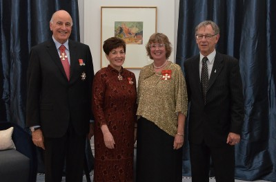an image of Their Excellencies with Mrs Lyn Provost, CNZM and Mr Paul Provost
