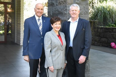Image of Dame Patsy, Sir David and Steve Tew