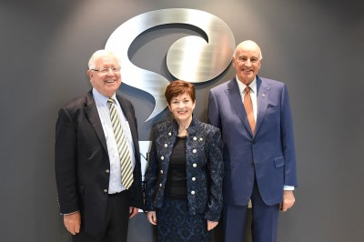 Image of Dame Patsy Reddy, Sir David Gascoigne and Prof. Sir Richard Faull at the Centre for Brain Research