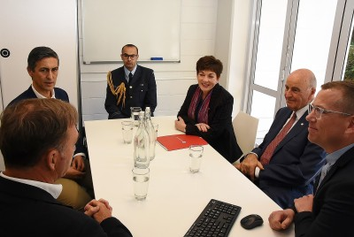 Image of the briefing at the New Zealand AIDS Foundation