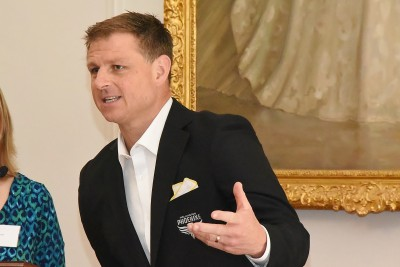 Image of guest speaker Ben Sigmund of the Wellington Phoenix