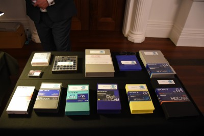 Image of a collection of betacam videotapes