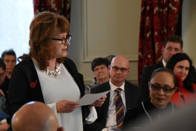 Image of Clare Curran swearing her oath