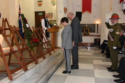 an image of wreathlaying in the Hall of Memories