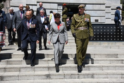 an image of Hon Ron Mark, Dame Patsy and Lt Gen Tim Keating