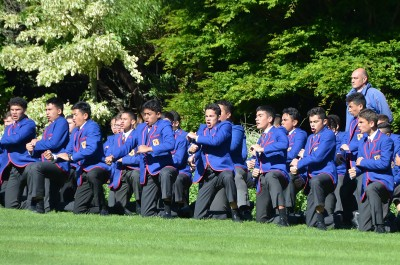 an image of haka by Hato Paora students