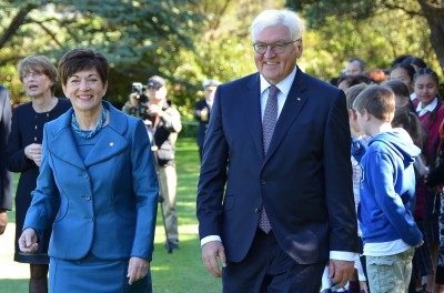 an image of Dame Patsy and President Steinmeier