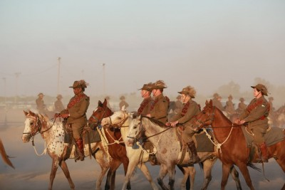 an image of Riders re-enacting the Australian Light Horse contingent at Beersheba