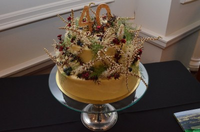 an image of the birthday cake to celebrate 40 years of the National Trust's work